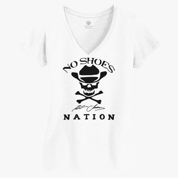 8c1ad09a8 Kenny Chesney No Shoes Nation New Logo Women s V-Neck T-shirt - Customon