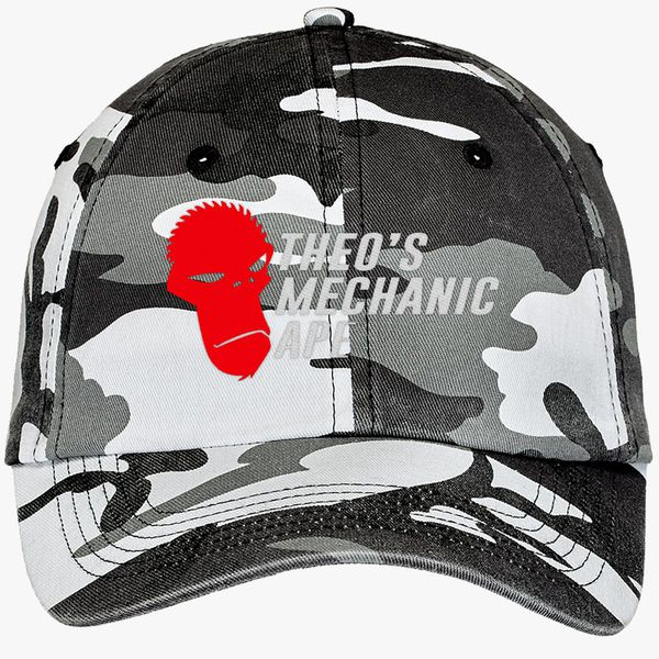 124006a4a34 Theo s Mechanic Ape Camouflage Cotton Twill Cap (Embroidered ...
