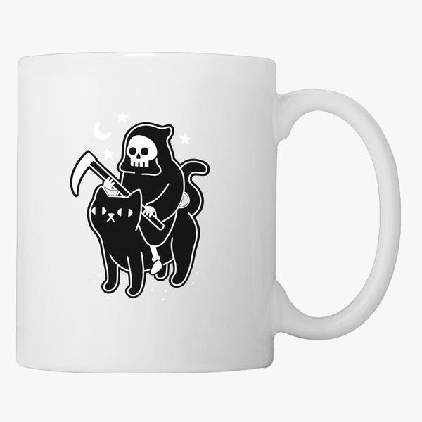 Death Rides A Black Cat Coffee Mug Customon Com