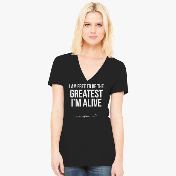 Free to be greatest - Sia Women's V-Neck T-shirt - Customon