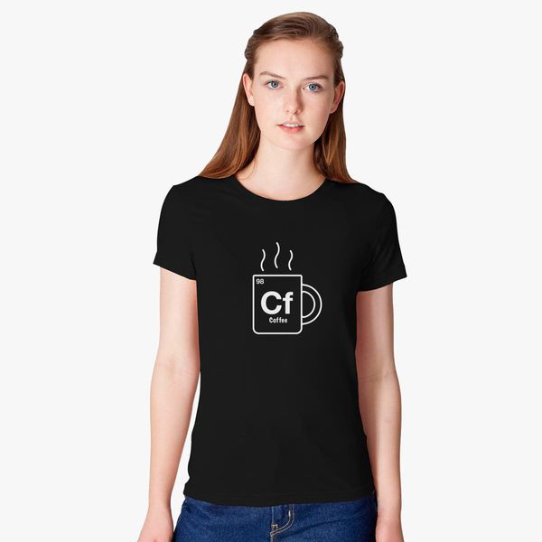 Coffee Periodic Table Black Juniors Soft T-Shirt