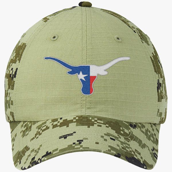 e4047fd5b60 cowboy Colorblock Camouflage Cotton Twill Cap (Embroidered ...