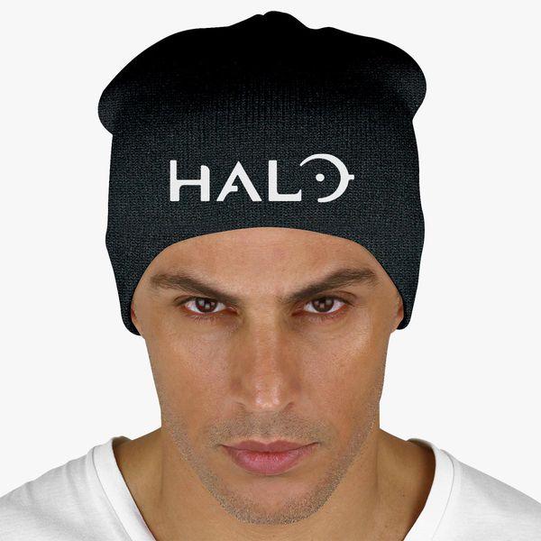 8724b2233ea Halo Game Logo Knit Beanie