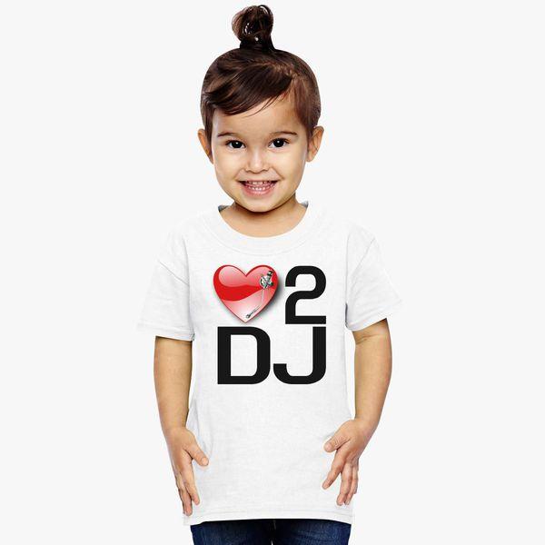 b1223b5edca3f0 LOVE 2 DJ Toddler T-shirt - Customon