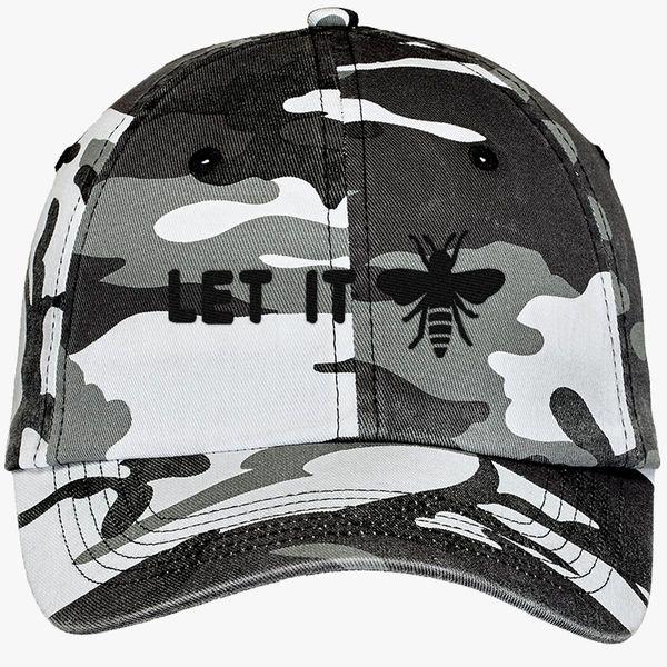 2f5cb1e554883 let it beE Camouflage Cotton Twill Cap (Embroidered) - Customon