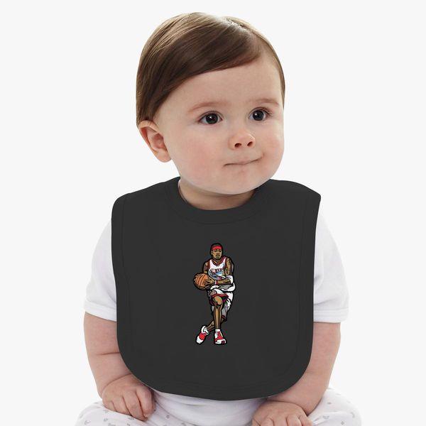 new style bee82 073d9 Allen Iverson Baby Bib - Customon