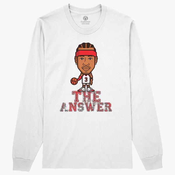 huge discount c4afe 6fcba The Answer Allen Iverson Long Sleeve T-shirt - Customon