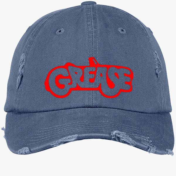 539849175307c GREASE PINK LADIES Distressed Cotton Twill Cap (Embroidered) - Customon