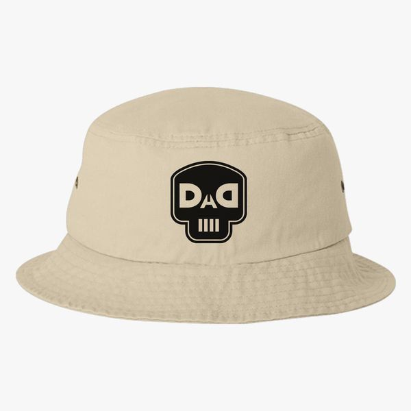 3de659d3e42 dad skull Bucket Hat (Embroidered) - Customon