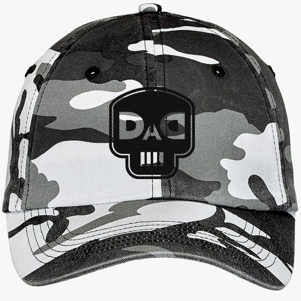 b28f9b3d58809 dad skull Camouflage Cotton Twill Cap (Embroidered) - Customon