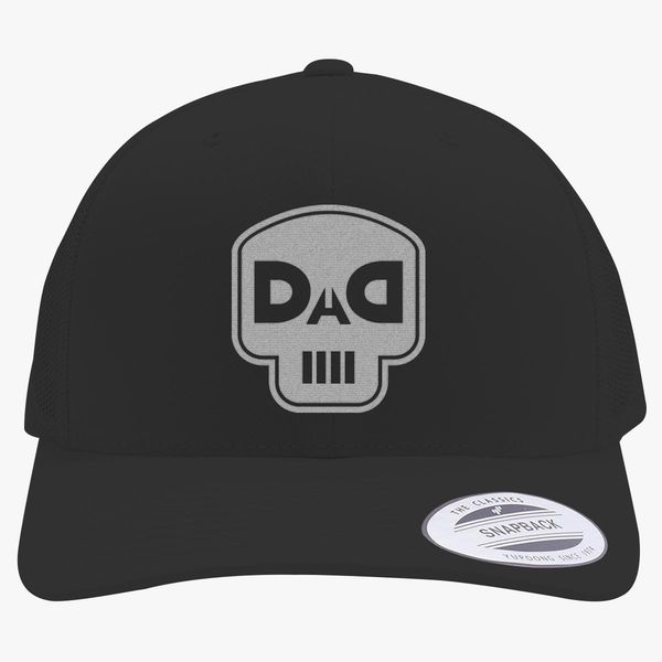 23244ebd127ef dad skull Retro Trucker Hat (Embroidered) - Customon