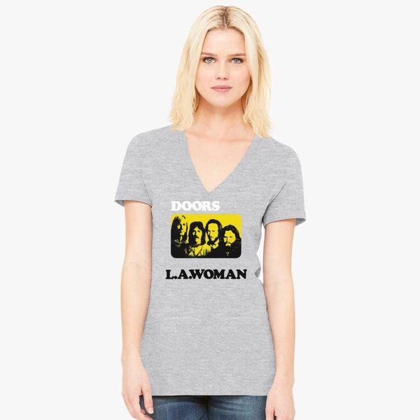 248c5205 The Doors LA Woman Women's V-Neck T-shirt - Customon