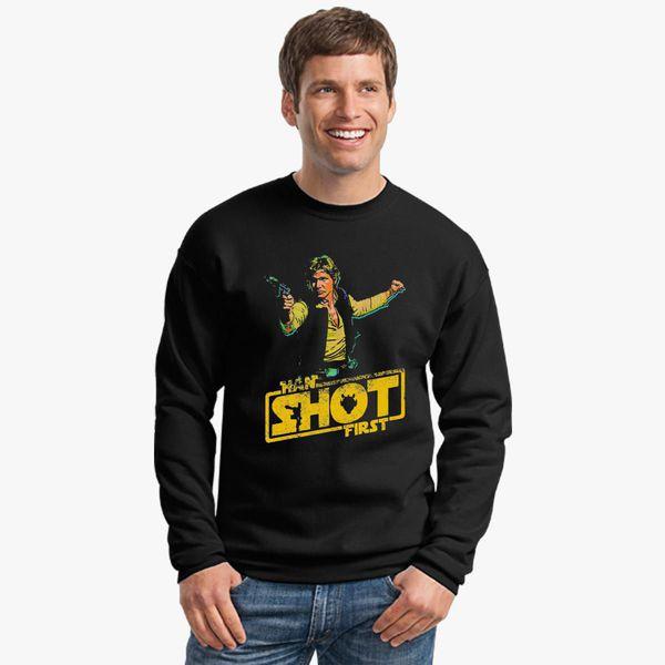 380 Han Shot First Funny Adult Crew Sweatshirt