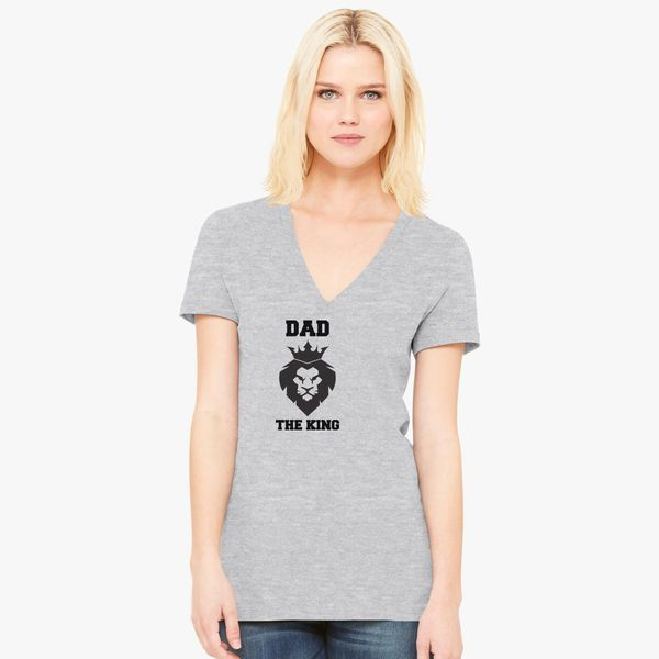 45535995 Dad, the king Women's V-Neck T-shirt - Customon
