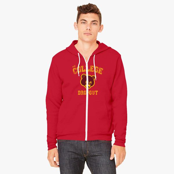 Bear College Dropout Unisex Zip Up Hoodie Customon
