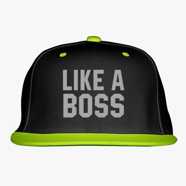 ad99227e5 Like A Boss Gangster Attitude Funny Hipster Snapback Hat (Embroidered) -  Customon