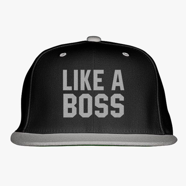 2c2b876172dd8c Like A Boss Gangster Attitude Funny Hipster Snapback Hat (Embroidered) -  Customon