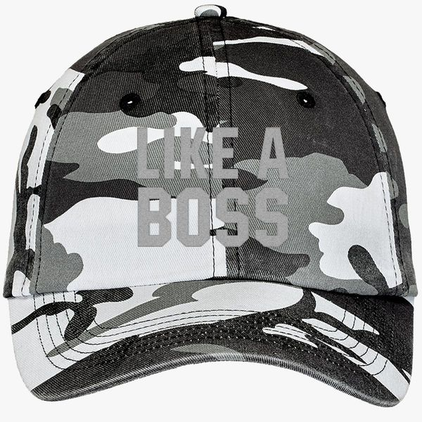53c3de2573f298 Like A Boss Gangster Attitude Funny Hipster Camouflage Cotton Twill Cap -  Embroidery