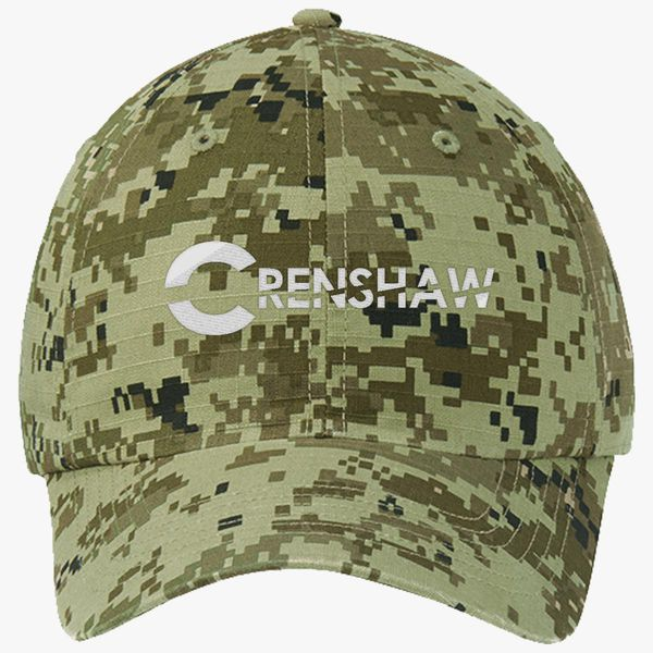 0570ad0e65414 CRENSHAW Ripstop Camouflage Cotton Twill Cap (Embroidered ...