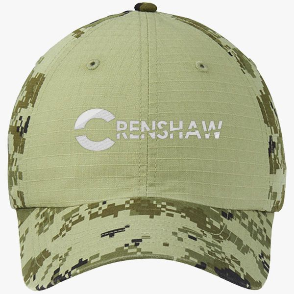 1eb4998a96a20 CRENSHAW Colorblock Camouflage Cotton Twill Cap (Embroidered ...
