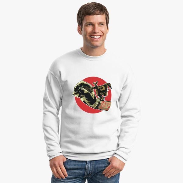 498512465 Tattoo Machine Crewneck Sweatshirt - Customon