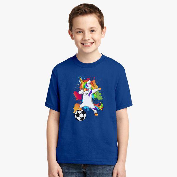 6847158ec6c Dabbing Unicorn Soccer Player Youth T-shirt - Customon