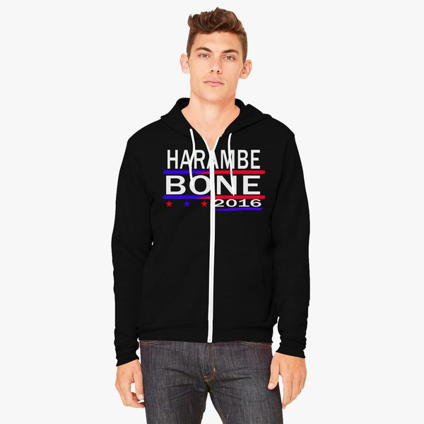 549127728d HARAMBE AND KEN BONE 2016 Unisex Zip-Up Hoodie - Customon