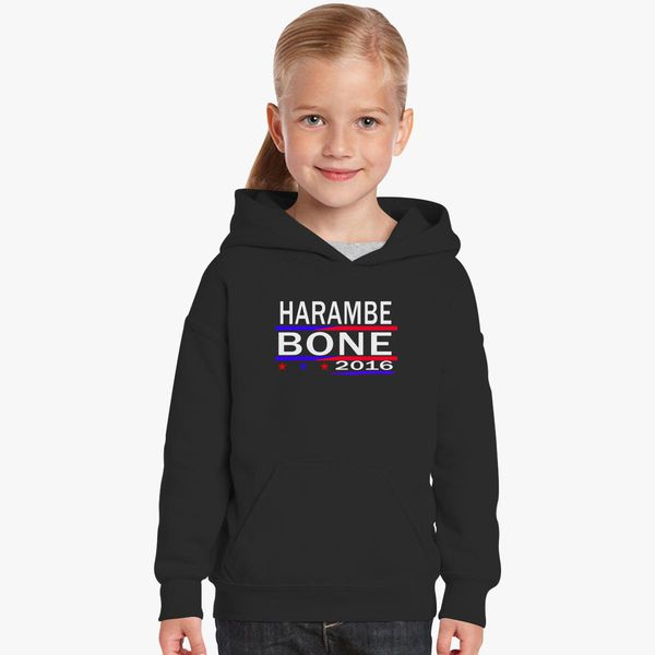 11afba7810 HARAMBE AND KEN BONE 2016 Kids Hoodie - Customon