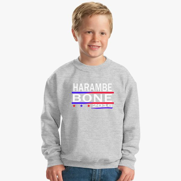f64e6cc595 HARAMBE AND KEN BONE 2016 Kids Sweatshirt - Customon