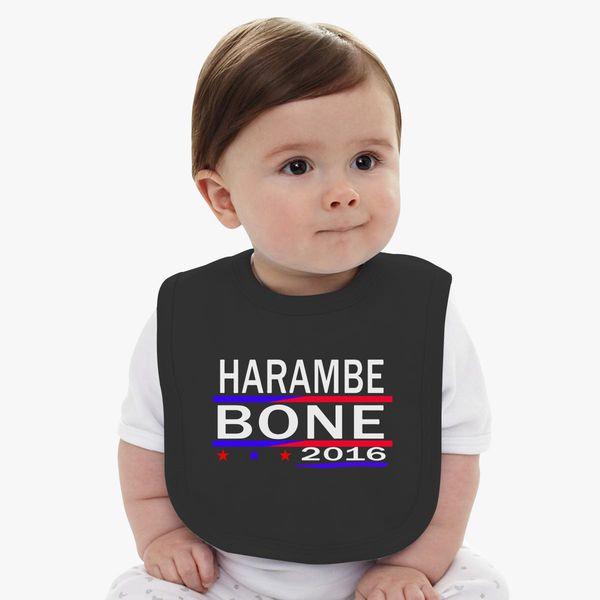 f3fd604607 HARAMBE AND KEN BONE 2016 Baby Bib - Customon