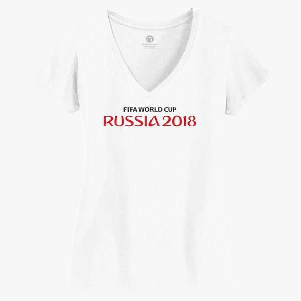 ebf955b81 Fifa World Cup Russia Women s V-Neck T-shirt - Customon