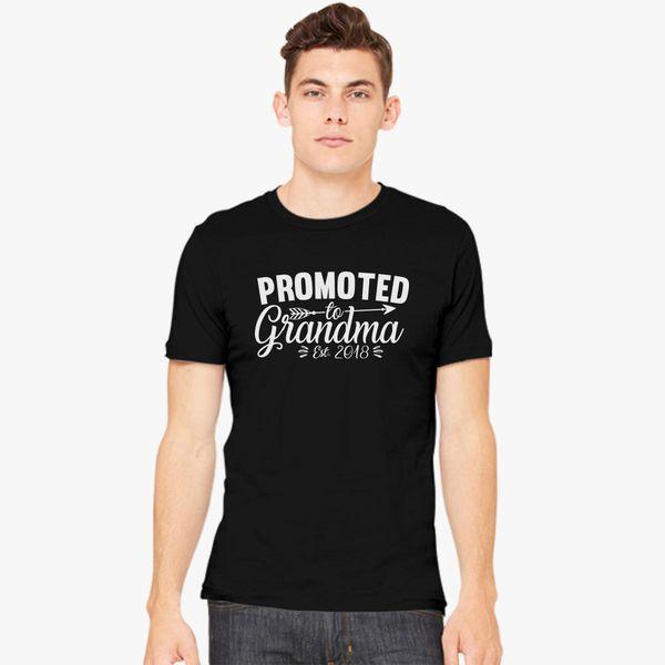0c236040 Funny New Grandma - Promoted To Grandma Est Men's T-shirt ...