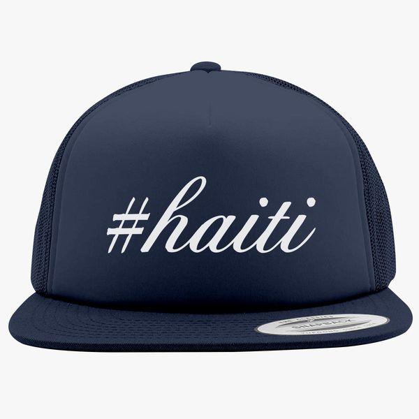 9ed23985df5 Haiti Hashtag Foam Trucker Hat - Customon
