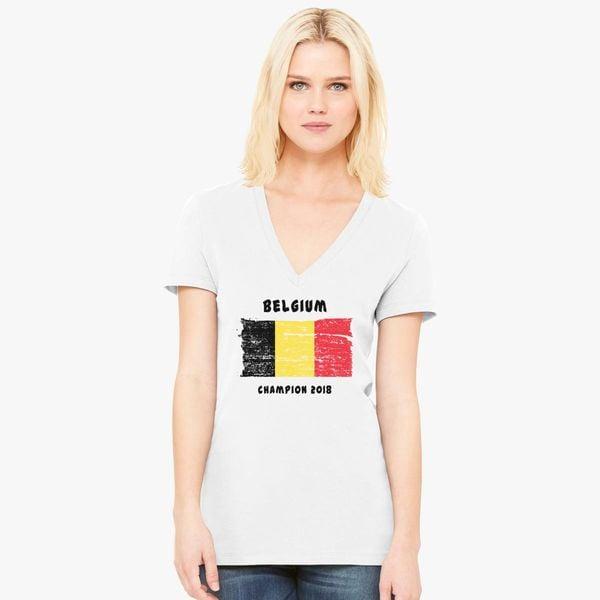 3f21e02c4 Belgium fifa world cup 2018 Women s V-Neck T-shirt - Customon
