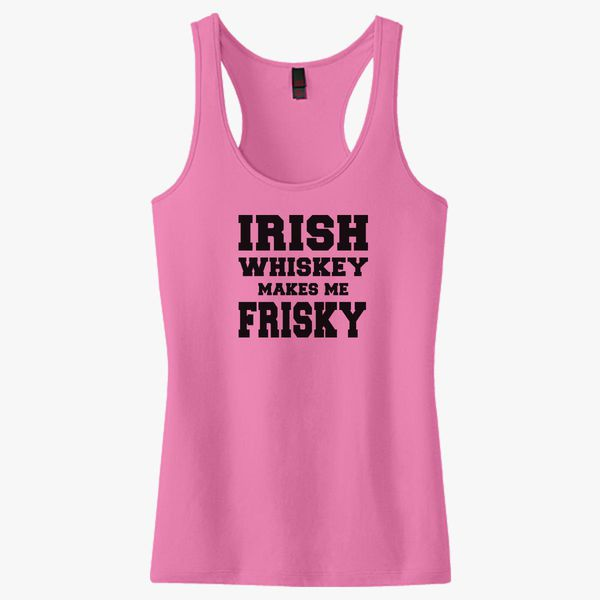 Whiskey Makes ME Frisky Tank Tops Sleeveless T-Shirts Fit Mens Muscle
