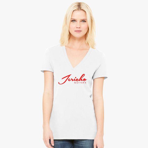 30d933c8c Jericho Guitars Logo Women's V-Neck T-shirt - Customon