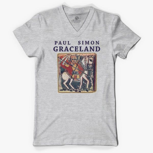 ME COO Mens Unique Design Paul Simon Graceland Weekend Long Sleeve O-Neck Tees