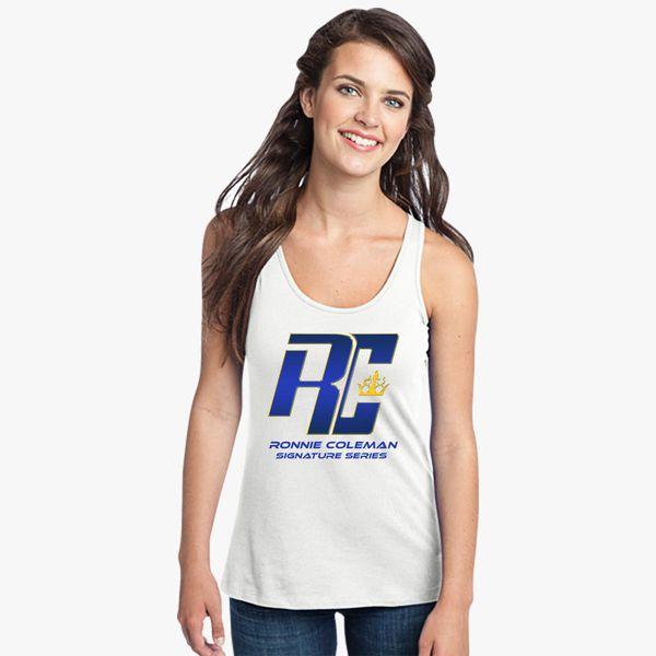 eeda92b3b1fb0 Ronnie Coleman Logo Women s Racerback Tank Top - Customon