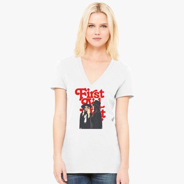 642501ba First Aid Kit Women's V-Neck T-shirt - Customon