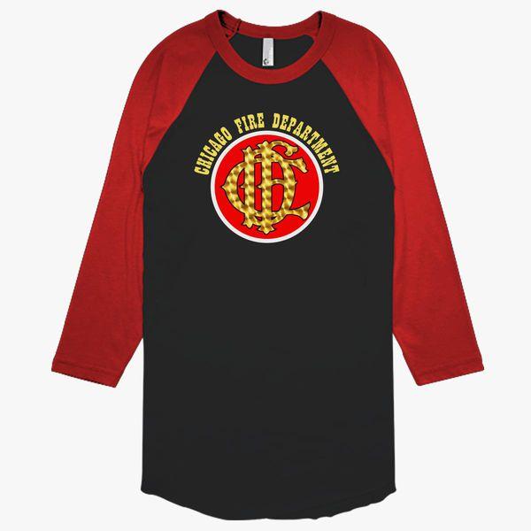Chicago Fire Department Baseball T Shirt Customon