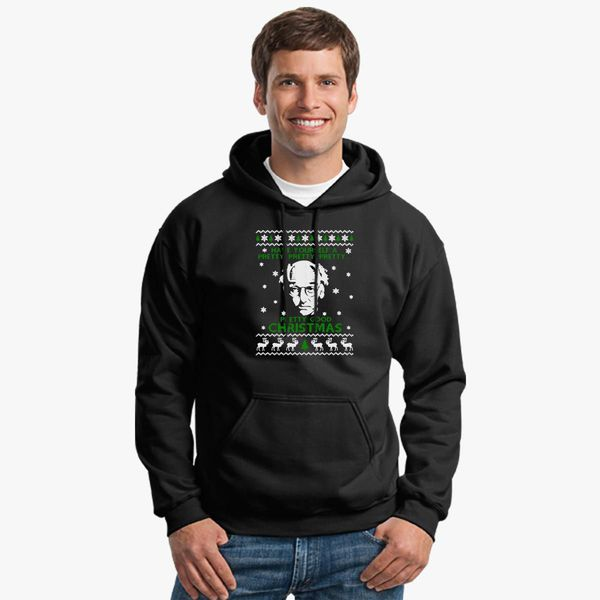 Larry David Pretty Good Christmas Ugly Sweater Unisex Hoodie
