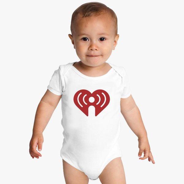 I Heart Radio (IHeartRadio) Symbol Baby Onesies - Customon