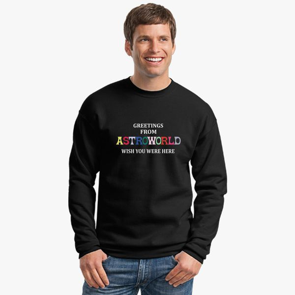 703c66841499 Greetings From Astroworld Wish You Were Here v2 Crewneck Sweatshirt
