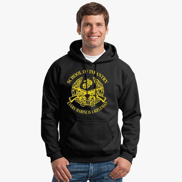 9bb29ae3 usmc school of infantry Unisex Hoodie - Customon
