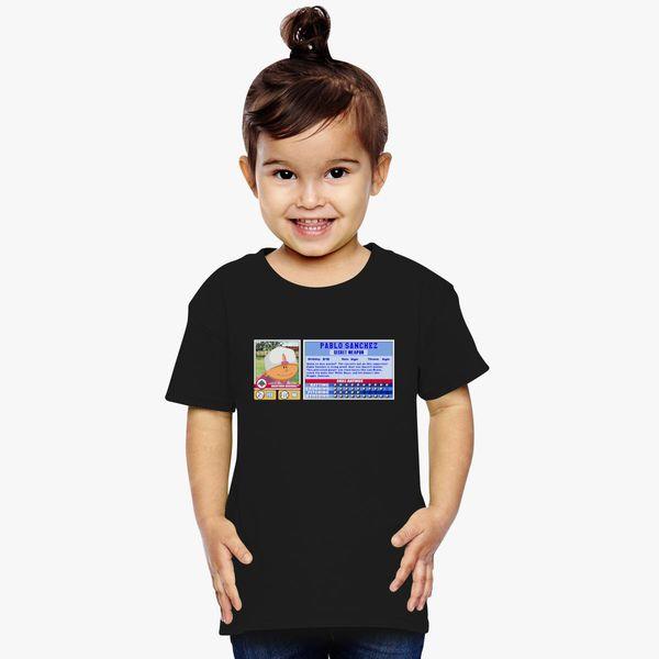 8323a594128d Pablo Sanchez - Backyard Baseball Stat Card Toddler T-shirt ...