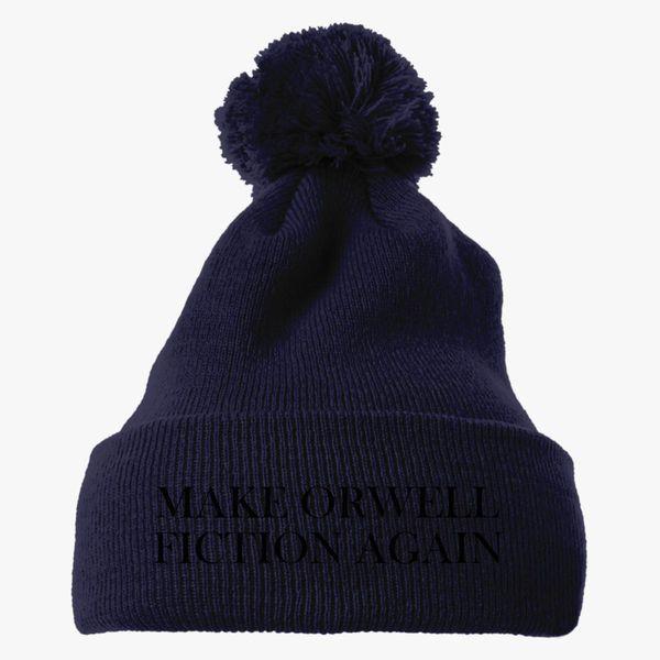 Make Orwell Fiction Again Knit Pom Cap Customon