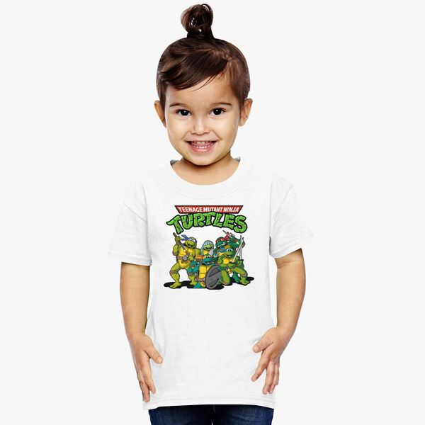 Teenage Mutant Ninja Turtles Boys Toddler Xmas Long-Sleeved Crew Sweatshirt 3T Kelly Green