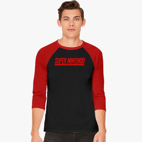 14ac1901 Super Nintendo Logo Baseball T-shirt - Customon