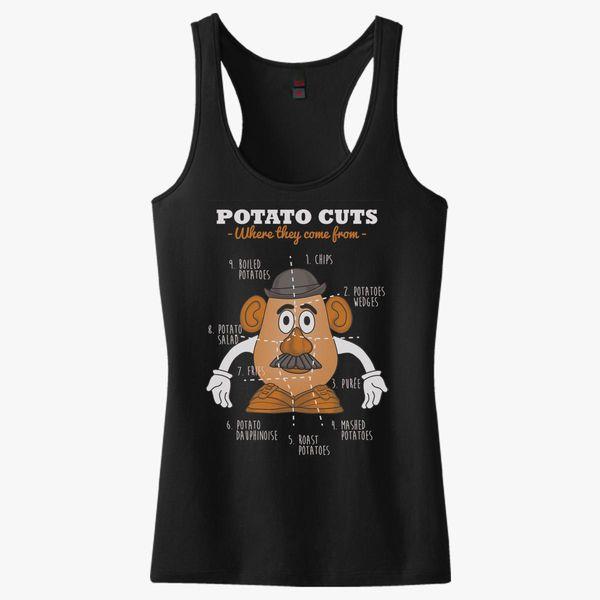 92d610e779290 A Potato Anatomy Women s Racerback Tank Top - Customon