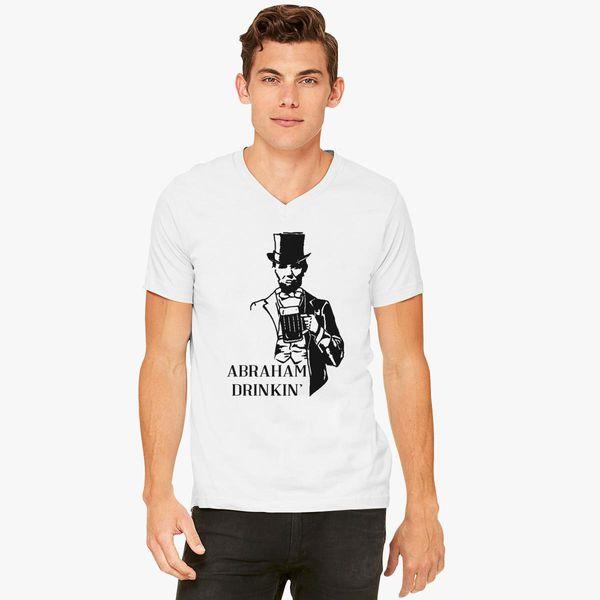 c11323cd81107 Abraham Drinkin  4th Of July V-Neck T-shirt - Customon